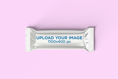 Mockup of a Chocolate Bar on a Solid Surface 1576-el