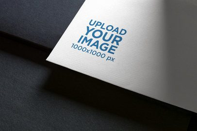 Logo Mockup Featuring the Close-Up to a Business Card 1661-el