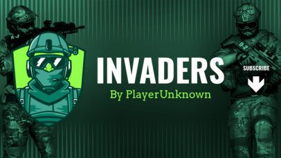 YouTube Banner Maker with a PUBG-Inspired Soldier Character 2064c