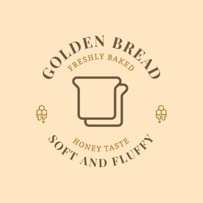 Logo Design Maker for a Sweet Bakery with a Bread Icon 220e-el