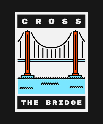 T-Shirt Design Creator with an Illustration of the Golden Gate Bridge