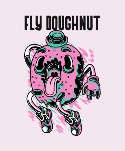 T-Shirt Design Maker with a Junk Food Illustration 37f-el