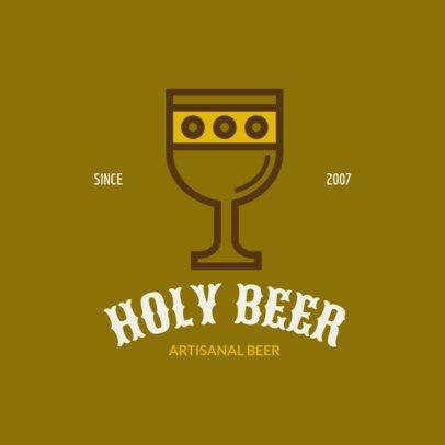Beer Brand Logo Creator with Medieval Graphics 237c-el