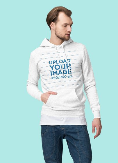 Hoodie Mockup Featuring a Serious-Looking Man at a Studio 1792-el1
