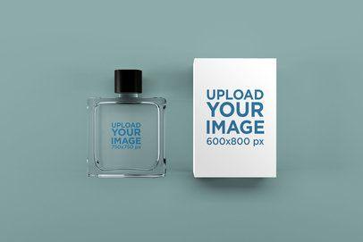 Perfume Mockup Featuring a Customizable Surface 1543-el