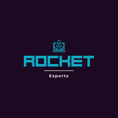 Gaming Logo Maker with a Rocket Clipart