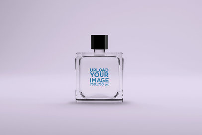 Mockup of a Perfume Bottle with Customizable Background 1542-el