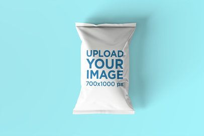 Chips Bag Mockup Featuring a Customizable Background 1538-el1