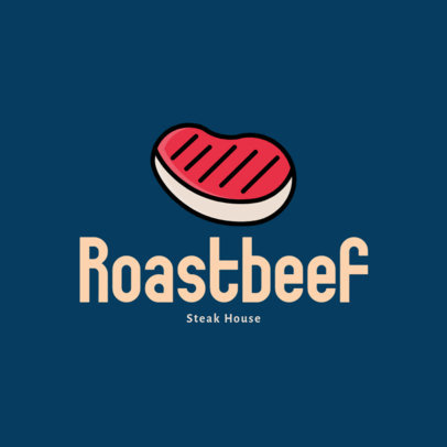 Restaurant Logo Maker with a Beef Steak Icon