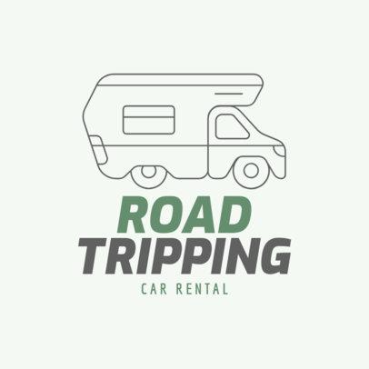 Car Rental Logo Maker Featuring a Camper Icon 277a-el