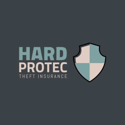 Theft Insurance Logo Maker with a Shield Graphic 259b-el