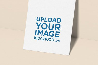 Logo Mockup Featuring a Close-Up to a Vertical Business Card 1682-el