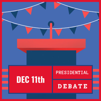 Instagram Post Generator Featuring a Presidential Podium  1802h 2061
