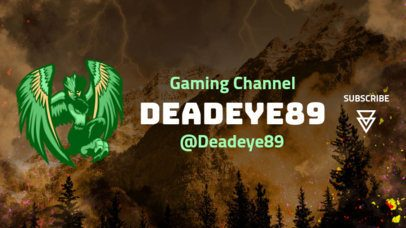 YouTube Banner Generator with a Winged Character Inspired by PUBG 2065d