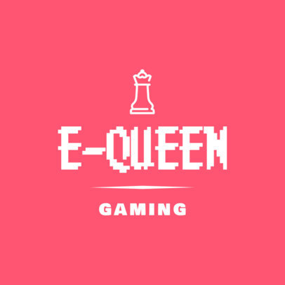 Logo Design Creator for Gamers with a Chess Piece Clipart 267b-el
