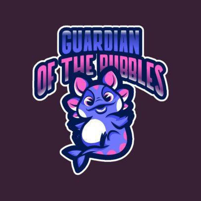 Mascot Logo Maker with a Cute Sea Creature Drawing 2766f