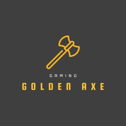 Gaming Logo Generator with a Battle Axe Icon 242c-el