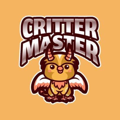 Gaming Logo Template Featuring an Enchanting Critter 2766p