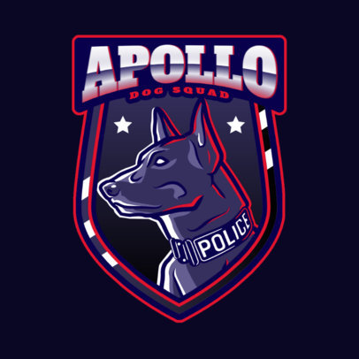Gaming Logo Maker Featuring a Dog Police Unit Clipart 2770f