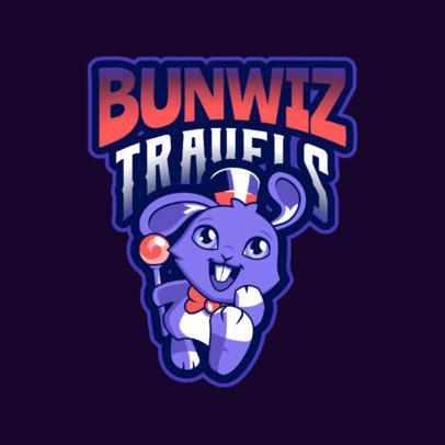 Fantasy Logo Generator Featuring a Magical Rabbit 2766r