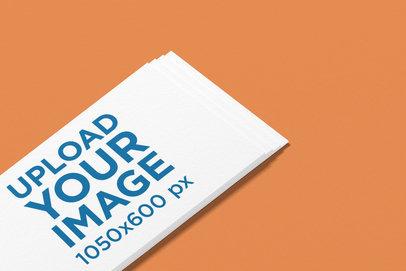 Logo Mockup of an Angled Business Card Against a Plain Backdrop 1685-el