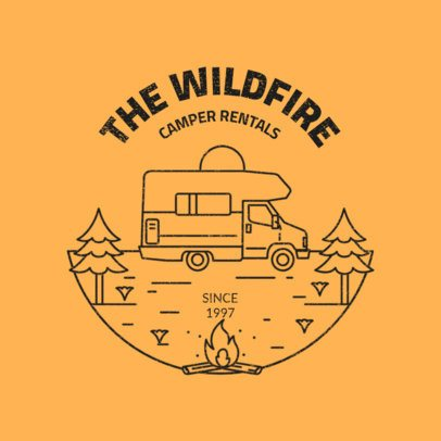 Cool Logo Template for a Camper Rental Company 2773c