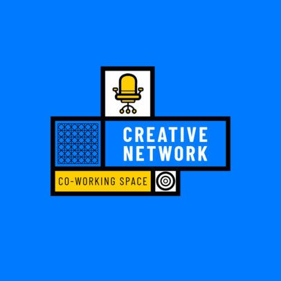 Modern Logo Template for a Coworking Environment 2771g