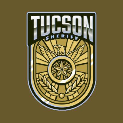 Gaming Logo Maker with an Elegant Sheriff Badge Illustration 2770m
