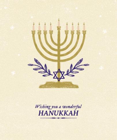 T-Shirt Design Maker of a Hanukkah Celebration with a Menorah Illustration 837g-2055