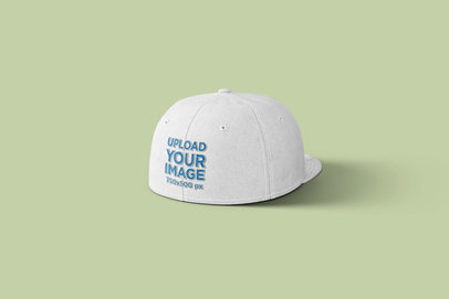Back View Mockup of a Snapback Hat 1490-el