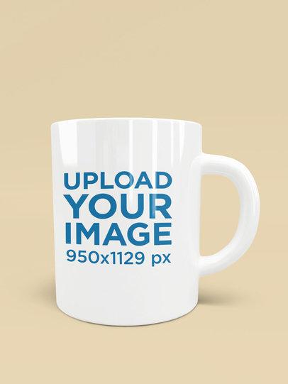 Mockup of an 11 oz Coffee Mug in a Customizable Scenario 1518-el