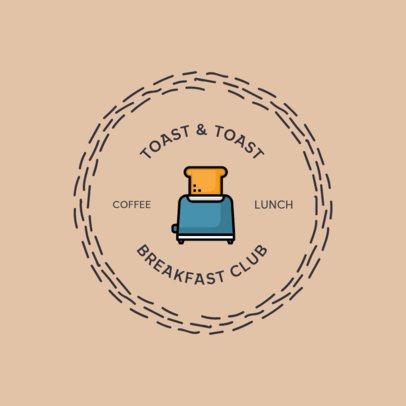 Logo Design Maker for a Breakfast Club Restaurant 366-el