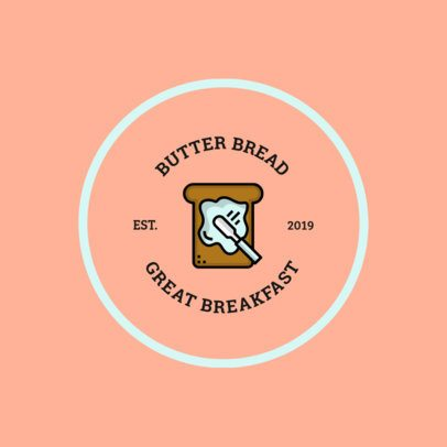 Breakfast Logo Template with a Bread Graphic 366a-el