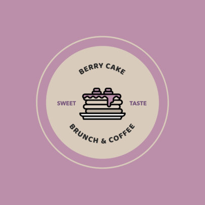 Brunch Logo Maker Featuring a Pancakes Icon