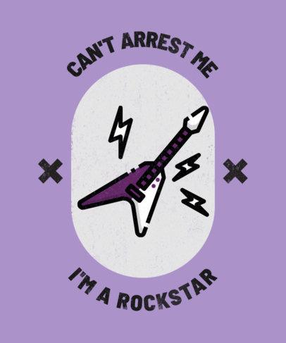 T-Shirt Design Template for Rock Music Enthusiasts 314d-el