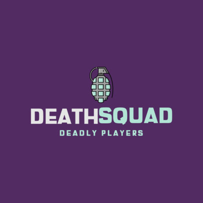 Logo Template for a Gaming Squad Featuring Weapon Icons 320-el