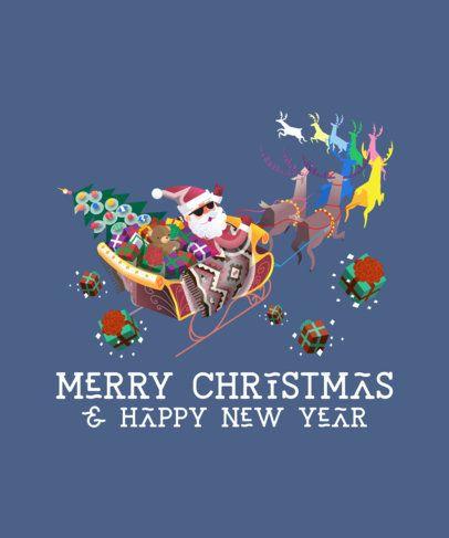 Christmas T-Shirt Design Maker with Cool Santa Illustrations 174-el