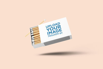 Mockup of a Matchbox with a Customizable Background 1640-el