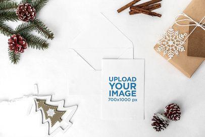 Mockup of a Christmas Greeting Card 2083-el1
