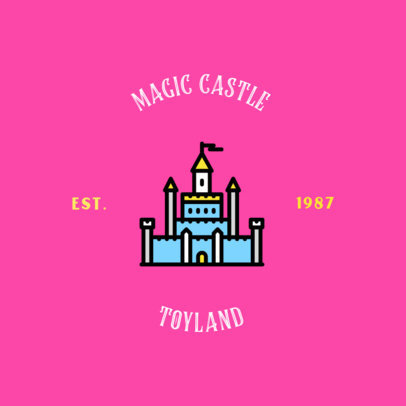 Toy House Logo Maker with a Castle Graphic