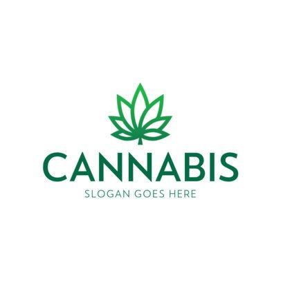 Cannabis Logo Maker with Simple Marijuana Icons 393-el1