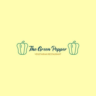 Logo Template for a Restaurant with Vegetable Graphics 286-el1