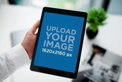 iPad Mockup Featuring a Man at Work 2110-el1