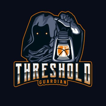 Logo Generator for a Terror Game with a Character Holding a Lantern 2786k