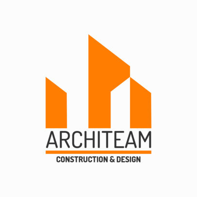 Architectural Logo Template for a Construction and Design Company 1282l-2796