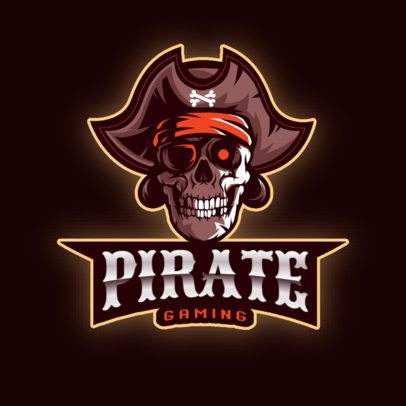 Gaming Logo Maker with Pirate-Themed Illustrations 2811