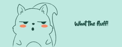 Mug Design Template with a Suspicious-Looking Cartoon Animal 2075d