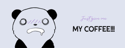 Funny Mug Template with a Crazy Panda Illustration and a Quote 2075l