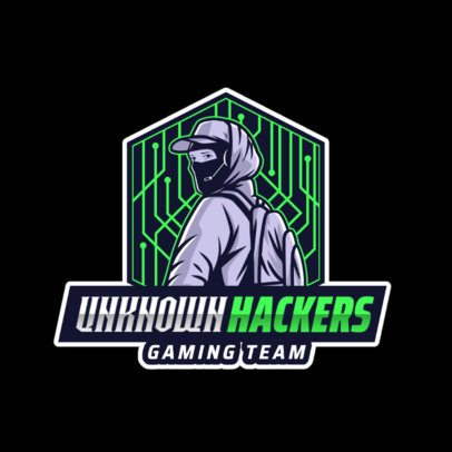 Gaming Logo Maker Featuring a Hacker Character 2815