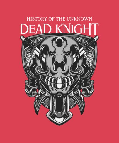 Street Art-Style T-Shirt Design Template with a Dead Knight Illustration 36h-el1